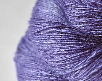 Periwinkle on its way to paradise - Tussah Silk Lace Yarn