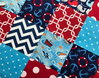 Nautical Baby Quilt Etsy