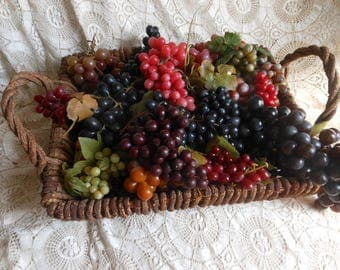 Vintage Rubber Grapes 26 Bunches Hong Kong at Quilted Nest