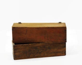 Vintage Cheese Boxes, Rustic Farmhouse Decor, Small Wooden Boxes, Desk Caddy Box