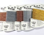 Needlepoint Embroidery Coronet Braid Metallic Rainbow Gallery Embroidery Needlepoint Five (5) Assorted Colors Needlework Supplies (J203)