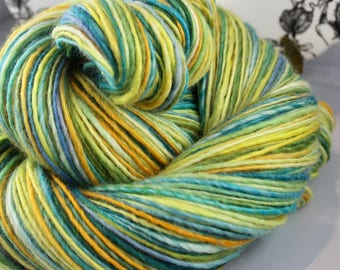 Handspun Yarn Gently Thick and Thin DK Single Blue Faced Leicester 'Simple Love'