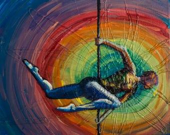 Warrior - Original Painting of a Pole Dancer