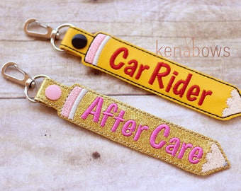 Personalized Name Tag, Car Rider, After Care, School Backpack Tag, Pencil Snap Tab, Key Fob, Key Chain, Kindergarten, 1st Grade, Boy, Girl