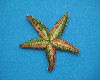 SALE~ Iron-On embroidered Patch Starfish 2 inch