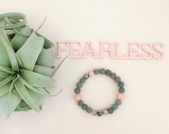 Fearless Essential Oil Diffuser Bracelet Lava Bead Essential Oils Bracelet