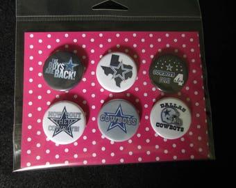 Dallas Cowboys Pin Back Buttons, Dallas Cowboys Magnets, Dallas Cowboys, Texas, Cowboys, Football, Pin Back Buttons, Magnets