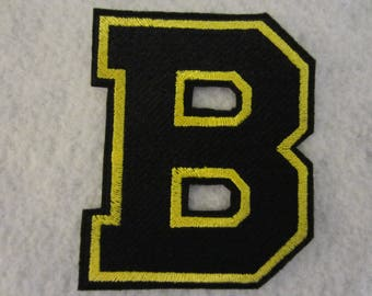 Boston Bruins Embroidered Iron On Patch, Boston Bruins Iron On Applique, Iron On Patch, Iron On Applique, Boston Bruins, Boston, Football