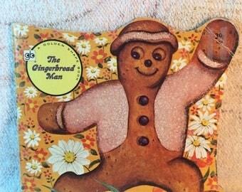 20% SALE 1974 The Gingerbread Man Golden Shape Book Golden Books