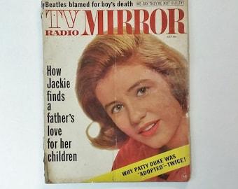 Vintage Magazine 1964 TV Radio Mirror Cover Stories The Beatles, Patty Duke, Jackie Kennedy, MORE 60's Mid Century Ephemera Advertising