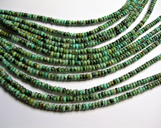 Turquoise - African - 4 mm heishi roundelle - 1 full strand - 150 beads - A quality - RFG1319