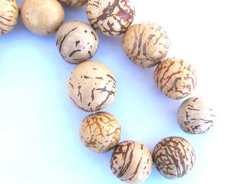 Natural Color Bombona Beads, HALF OFF! Strand, Natural Beads, Organic Beads, Earth Friendly Beads, EcoBeads