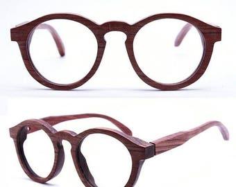 20% off SUMMER SALE THANKS  handmade round vintage 1960' s rosewood eyeglasses prescription sunglasses