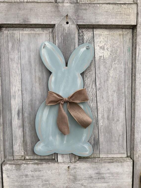 Farm House,  Easter, door hanger,  Spring door hanger, Rabbit door hanger,  Farm House Easter decor, Shabby Chic Easter door