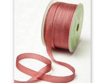 "4 Yards Narrow 1/4"" wide ROSE SILK  Ribbon Trim  cheswickcompany"