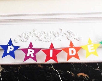 "6 Foot - Pride Star Banner - 4.5"" Star"