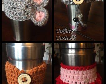 Handmade Crocheted Coffee Cozies