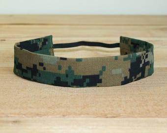 Woodland MARPAT USMC Baby Headband Military Camo