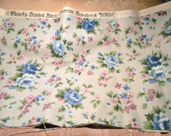 Vintage Fabric Shabby Cottage Waverly Registered Remnant Primrose