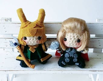 Loki and Thor Amigurumi