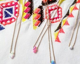 Teeny Tiny Opal Necklaces