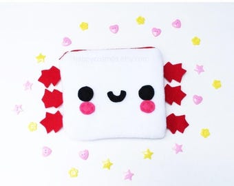 ON SALE - Axolotl Zipper Pouch - Pencil Pouch, Pencil Case, School Supplies, Make Up Bag, 3DS Case, Phone Case, Coin Purse