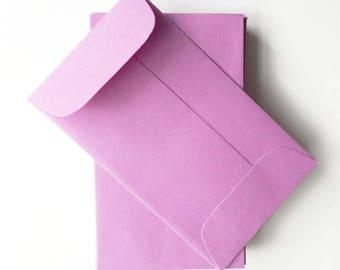 "CLEARANCE SALE: Mini Envelopes (3.75"" x 2.25"" - set of 20) LILAC"