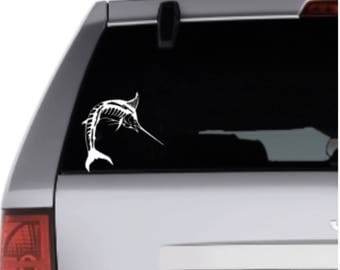 Sailfish Inspired Vinyl Decal Sticker