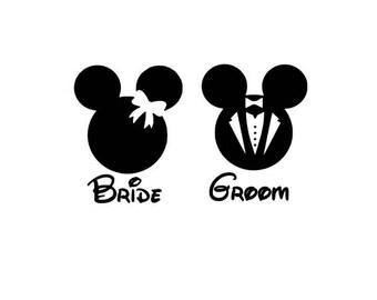 Bride and Groom Vinyl Decal Sticker