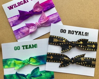 School Pride Elastic Hair Ties - cheerleader - hair tie bracelets - school spirit