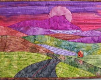 mountain valley landscape / art quilt pattern/ applique tutorial