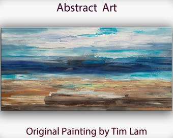 "Sale Abstract Movement Art  Painting, Original Texture wall Art, abstract oil painting, Multi colors Modern Home Decor, by Tim Lam 48"" x 24"""