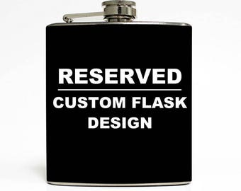 Shenndralee Reese - RESERVED - Liquid Courage Custom USA Flag Flask Listing LC 1005 (2)