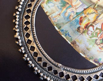 SAMPLE  SALE tribal style ethnic sterling kuchi hoop hand crafted  silver saw