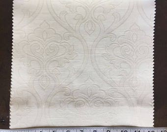 Custom Curtains Valance Roman Shade Shower Curtains in Ivory Damask Pattern Fabric