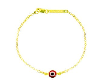 London Manori Red Evil Eye Bracelet