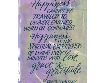 Happiness is the spiritual experience....Original art (#180) from 365 project (year 5)