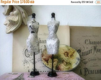 Miniature Dress Forms Handmade Nordic French Cottage chic