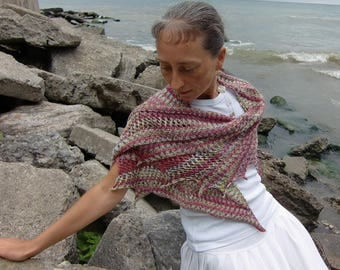 Mountain Creeks Shawl, Asymmetrical oblong triangular