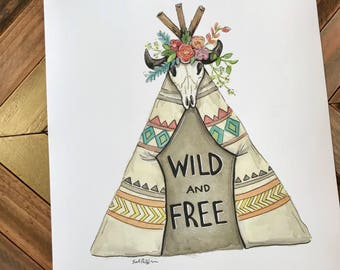 Wild and Free Teepee