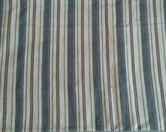 Blue Striped Light Weight Cotton Fabric 3 Yards X0992