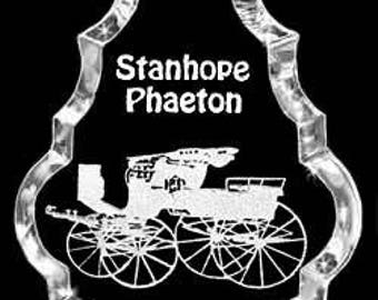 Carriage Stanhope-Phaeton Carriage Gift Crystal Necklace Pendant Jewelry or Suncatcher Custom with any Animal or Name YOU Want, Rodeo, Farm