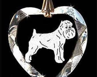 Brussels Griffon Dog Jewelry Custom Crystal Necklace Pendant, Suncatcher with any Animal or Name YOU Want, Gift, Dog Lover, Handler, Trainer