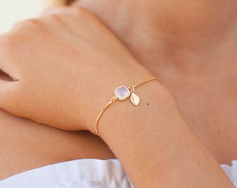 Tiny Initial Bracelet | Dainty Personalized Bracelet | Bridesmaids Gift | Bridesmaids Bracelet | Monogram Bracelet | Gift for Her