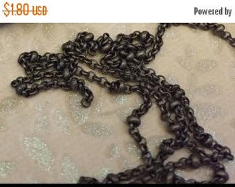 SALE Vintage Retro Style Delicate solid brass Antique bronze brass  plated soldered tiny Ball and Rolo Chain footage chain