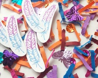 Boho Baby Shower, Party Decorations, Boho Confetti, Boho Chic, Bohemian Wedding, Table Decor, Bohemian Baby Shower, Butterflies, Feathers