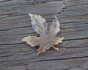 Silver maple leaf brooch sterling silver pin vintage jewelry leaves jewelty Fall leaves Thanksgiving gift for her