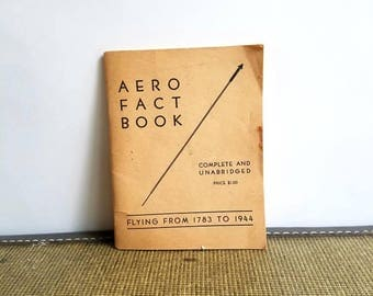 Vintage Aero Fact Book Flying Booklet