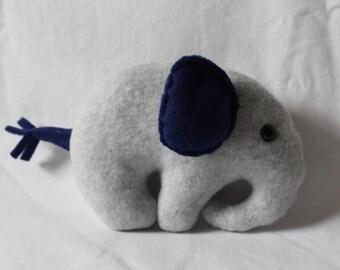 Small Gray Fleece Elephant