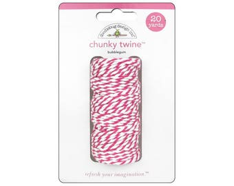 BUBBLEGUM Chunky Baker's Twine - Cotton Twine - 20 yards - Favor Packaging - Doodlebug - Invitation supply